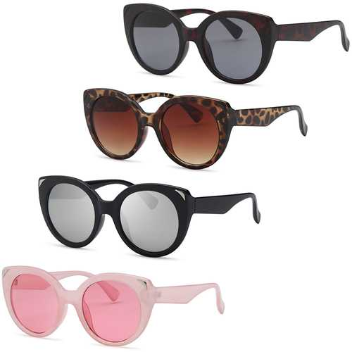 AFONiE- Dive Cat Eyes Thick Frame Sunglasses -Pack Of 4