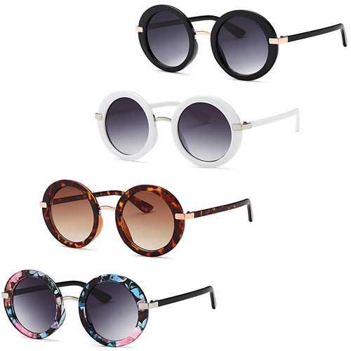 Round Oversize Sunglasses (4 Pack)
