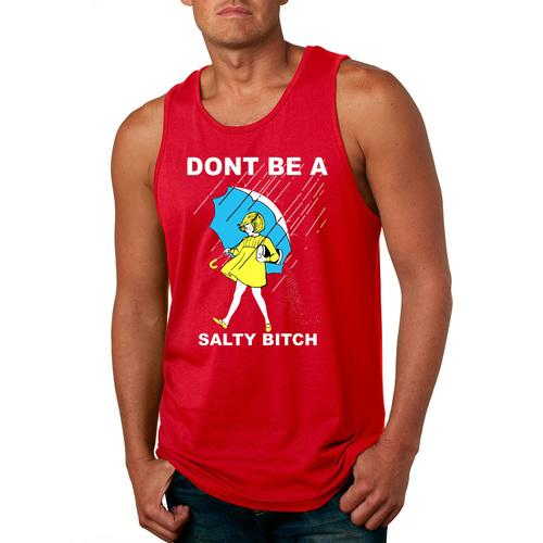 DONT BE A SALTY BITCH-Men Witty Tank Top Red Color Sizes S-XXXL