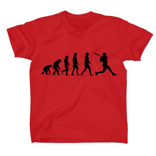 AFONiE Human Evolution Baseball Kids T-Shirt