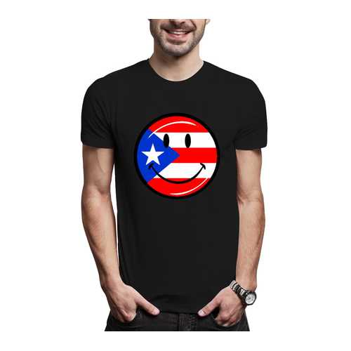 Puerto Rico Smiley Face Men Tee-S-XXXL
