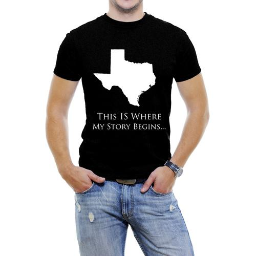 Texas-This Is Where My Story Begins Men T-Shirt Soft Cotton Short Sleeve Tee