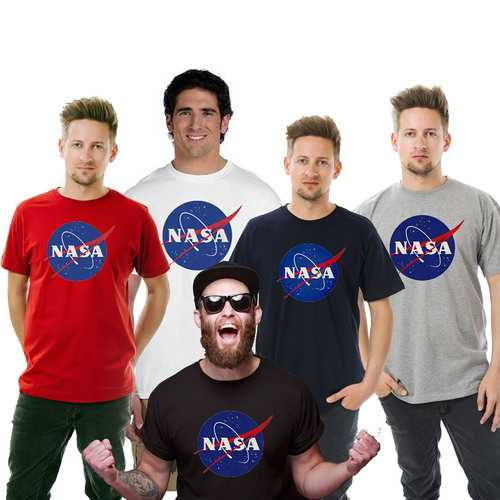 Nasa Men T-shirts - Big And Tall Sizes
