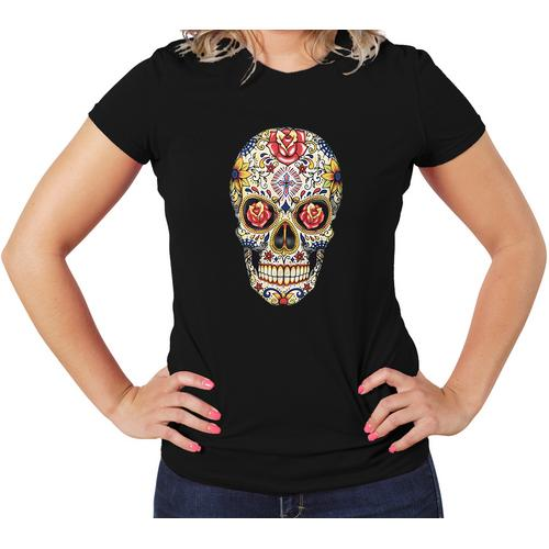 Carnival Skull Women T-Shirts