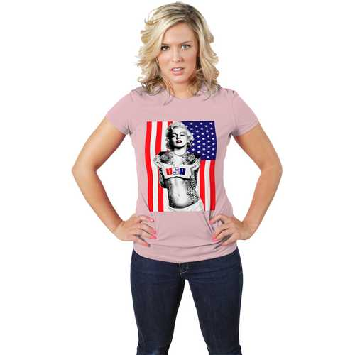 Marilyn Monroe American Flag Tee