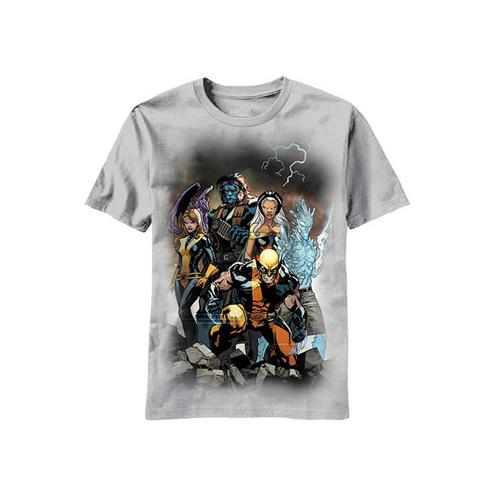 Licensed Marvel Comic Team Two Men T-Shirt