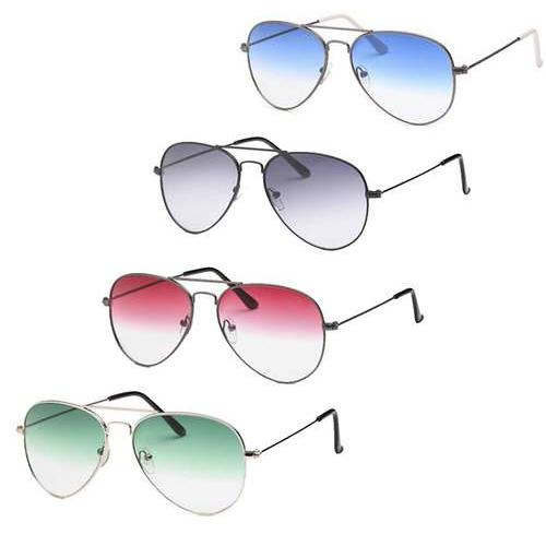 AFONiE-4 Pack Tinted Aviator Sunglasses
