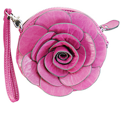 Purple Flower Messenger Bag