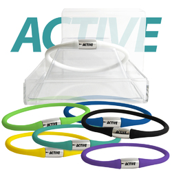 Flexible Silicon Bracelet With Stainless Steel Active Accent for Men