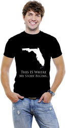 Florida- This Is Where My Story Begins... Men T-Shirts