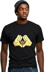Diamond Cartoon Hands T-Shirt