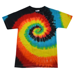 Twist Tie Dye Eclipse Men T-Shirt Soft Cotton Short Sleeve