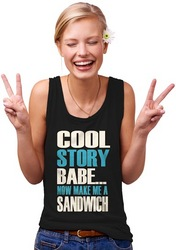 Womens Cool Story Babe Tank Top
