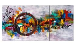 Abstroct Wall Decor Oil Paintings On Canvas Various Abstract Designs 3  Panels