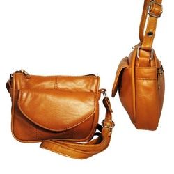 Small Leather Carry Crossbody Bag By Afonie