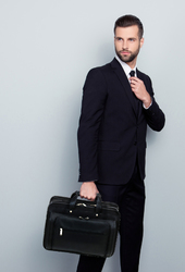 Leather Briefcase w/ Laptop Holder