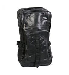 Black Leather Patchwork Backpack