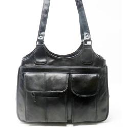 Black Women Leather Shoulder Bag