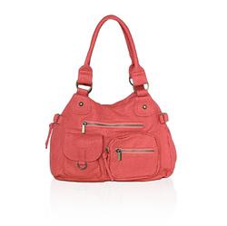 AFONiE Washable Soft Multi Pocket Shoulder Bag