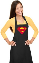 Superman Apron Womens