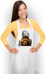 Marilyn Monroe Apron Marilyn Monroe Wearing Cleveland 23 Jersey NBA Apron