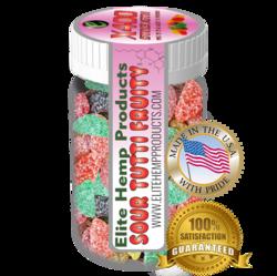 Elite Gummies Hemp Infused Gummy Fruits x400 Strength (Classic)