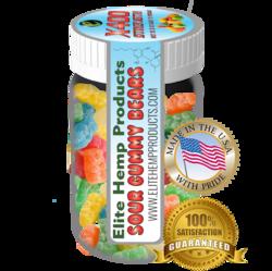 Elite Gummies Hemp Infused Gummy Bear x400 Strength (Classic)