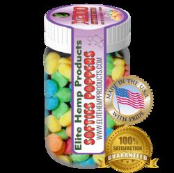Elite Hemp Gummies Hemp Infused Gummy Poppers x200 Strength (Classic)