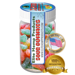 Elite Hemp Gummies Hemp Infused Sour Gummy x200 Strength (Classic)