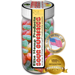 Elite Hemp Gummies Hemp Infused Sour Gummy x800 Strength (Classic)