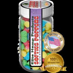 Elite Hemp Gummies Hemp Infused Gummy Poppers x800 Strength (Classic)