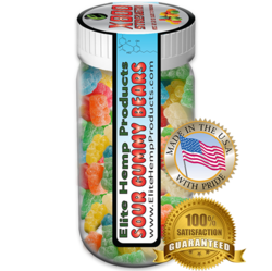 Elite Hemp Gummies Hemp Infused Gummy Bear x800 Strength (Classic)