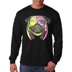 Colorful D.J Pug Long Sleeve Shirt