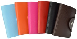 Soft Durable Leather Credit Card Holder Assorted Colors