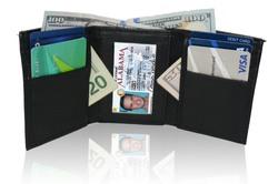 AFONiE Genuine Leather Tri-fold Wallet For Men