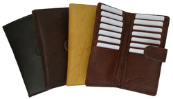 AFONiE Leather Bifold with Button Closure