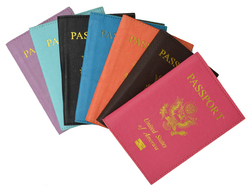 Leather Passport Holder Travel with Logo
