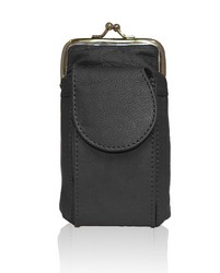 AFONiE Leather Cigarette and Lighter Case with Twist Clasp