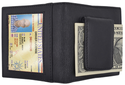 Genuine Leather Credit Card Holder and Money Clip