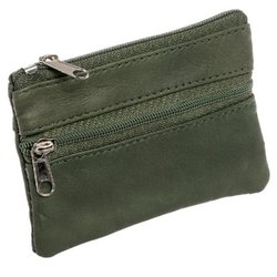 Luxurious Leather Change Purse w/ Key Ring