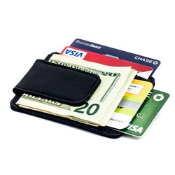 AFONiE Cowhide Leather Money Clip with Magnet