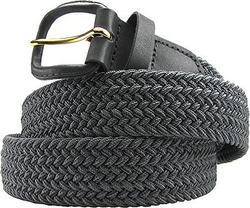Fabric Elastic Stretch Belt Grey Color