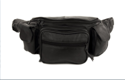 8 Pocket Genuine Leather Fanny Pack -  Pouch Jumbo Size
