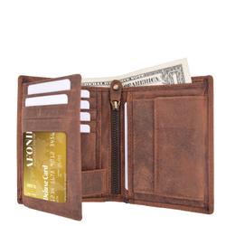 Distressed RFID Blocking European Style Wallet