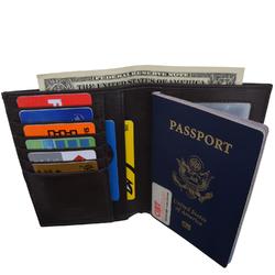AFONiE RFID Blocking Leather Bifold Wallet/Passport Holder