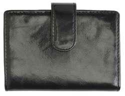 AFONiE Leather Card Case-Black Color