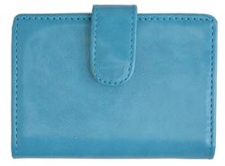 AFONiE Leather Card Case-Blue Color