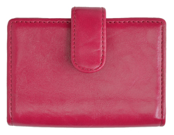AFONiE Leather Card Case-Hot Pink Color
