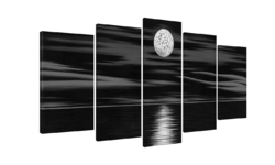 Dark Night Wall Decor Oil Paintings On Canvas Various Abstract Designs 3 Panels