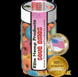 Elite Hemp Gummies Hemp Infused Sour Rings x800 Strength (Classic)